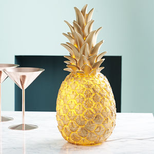 Pina Colada Pineapple Lamp In Seven Colours