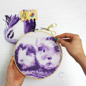 Purple Stitch A Selfie Cross Stitch Kit