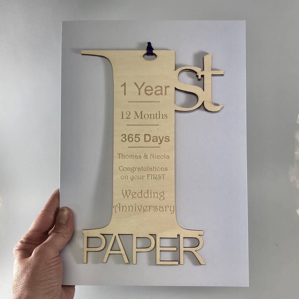 Personalised Giant 1st Anniversary Meaning Card By Hickory Dickory