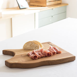 Personalised Oak Pig Chopping Board