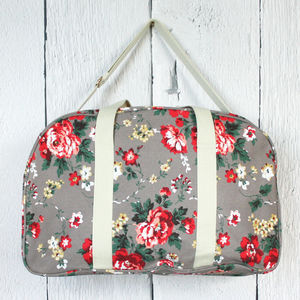 Pastel Floral Weekend Bag - holdalls & weekend bags
