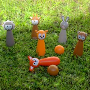 Woodland Animal Bowling Set - outdoor toys & games