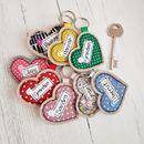 Personalised Love Heart Key Ring