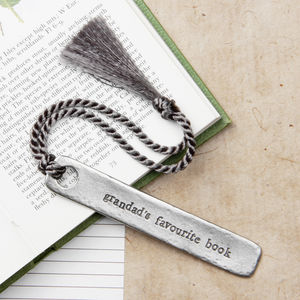 Grandparent's 'Favourite Book' Bookmark - gifts for grandfathers