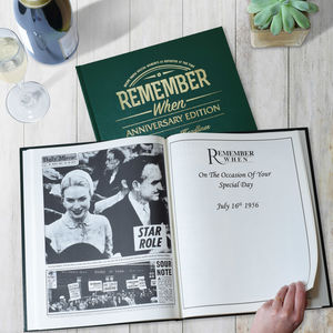 Anniversary Edition Newspaper Book