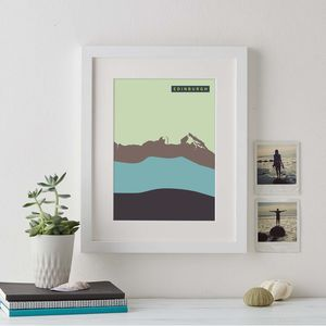Abstract Coastline Personalised Prints