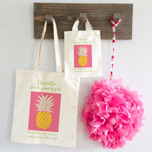 Pineapple Tote Shopper Bag X2 Sizes - slogan shoppers