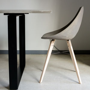 Concrete And Plywood Chair - furniture