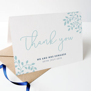 Alice Personalised Wedding Thank You Cards