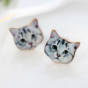 Crazy Cat Lady Earring Pair - earrings