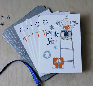 Mini Thank You Cards Boy Or Girl - thank you cards