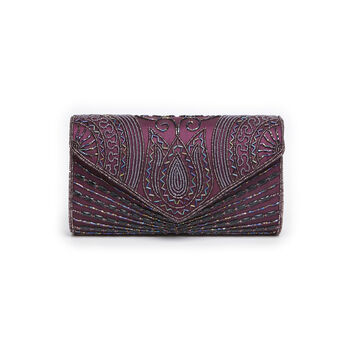 Beatrice Art Deco Hand Embellished Clutch