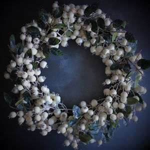 White Snow Berry Christmas Wreath - black friday sale