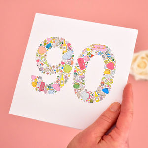 Girlie Things 90th Birthday Card