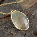 Gold Birthstone Statement Golden Sapphire Necklace