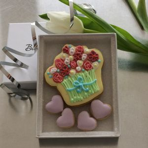 Flowers Cookie Card - biscuits and cookies