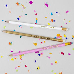'Follow Your Dreams' Pencil Gift Set - writing