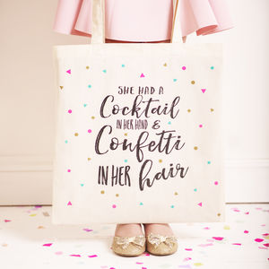 'Cocktails And Confetti' Tote Bag - womens
