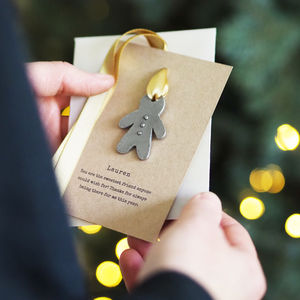 Personalised Christmas Gingerbread Tree Charm - secret santa gifts