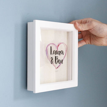 Personalised Heart Frame For Couples