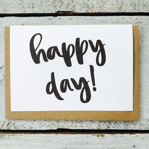 'Happy Day!' Card