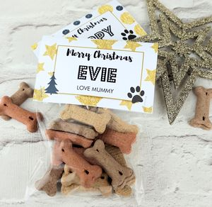 Personalised Christmas Dog Treats - gifts for pets