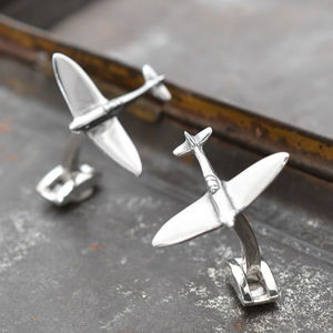 Genuine Spitfire Metal Cufflinks - men's accessories