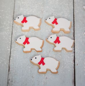Polar Bear Biscuit Gift Set - biscuits and cookies