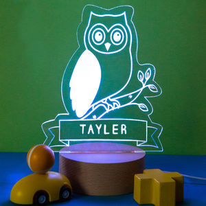 Personalised Owl Night Light - children's lights & night lights