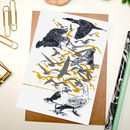 Sale 'Flock Of Birds' Greeting Card