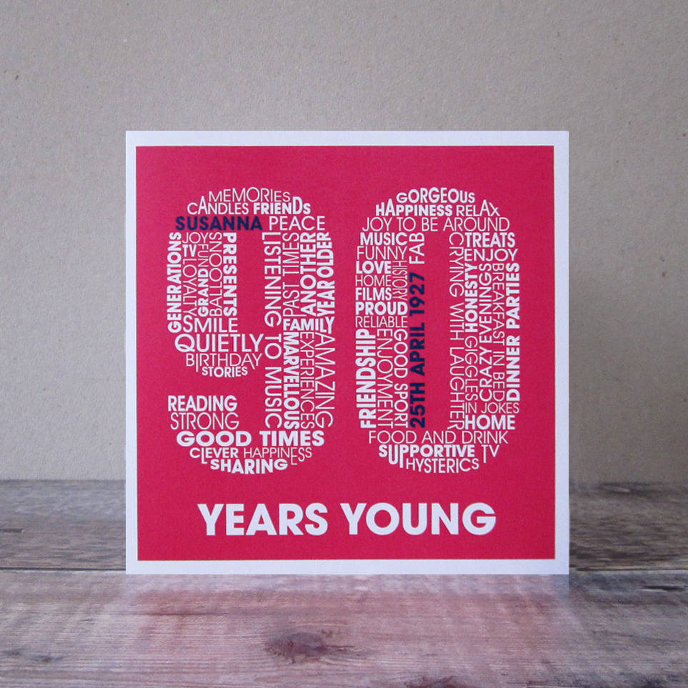 Personalised 90th Birthday Womens Card