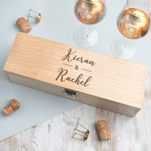 Personalised Couple's Names Alcohol Gift Box - drink & barware