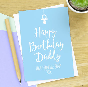 Personalised Birthday Card From The Bump