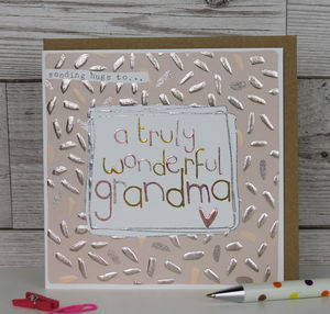 Card For A Grandma - general birthday cards
