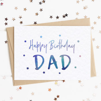 Happy Birthday Dad Star A6 Card