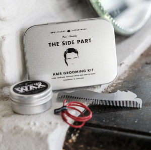 Hair Kit How To Create The Perfect Side Part Hair Kit - men's grooming & toiletries