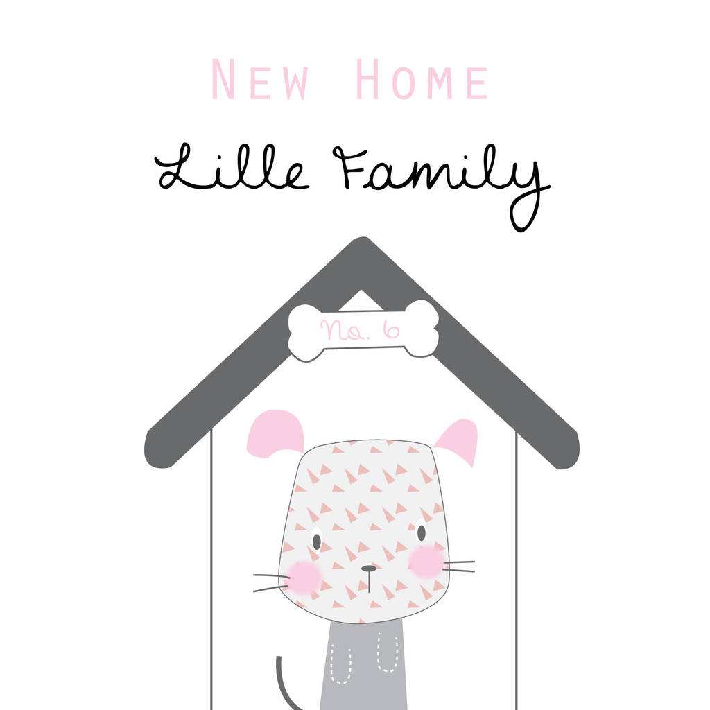 Personalised New Home Greeting Card By Buttongirl Designs