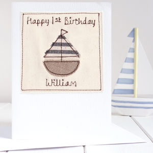 Personalised Sailing Boat Card
