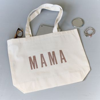 Mama Print Bag With Personalised Initial
