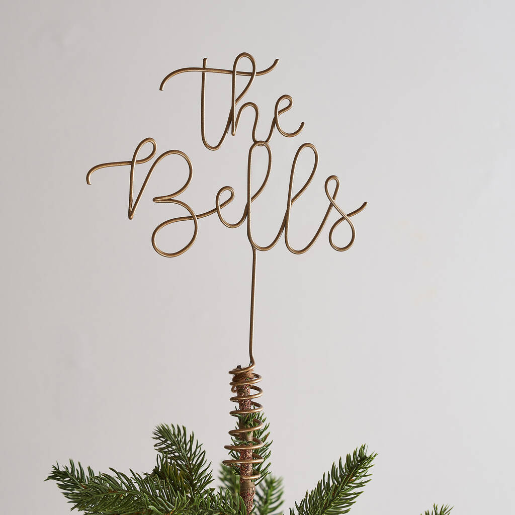 Letter Christmas Tree Topper: Personalised Wire Christmas Tree Topper By The Letter Loft