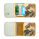 Tiger print leather wallet billfold with personalisation handcrafted in Britain by Tovi Sorga
