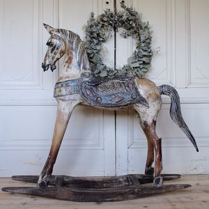 Decorative Painted Extra Large Rocking Horse