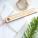 Personalised Secret Santa Tag