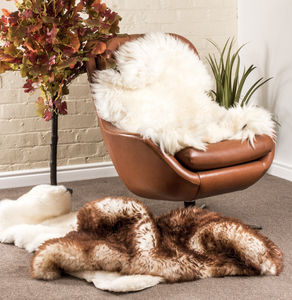 Large Sheepskin Rug In Various Colours - rugs & doormats