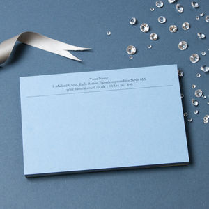 Personalised Luxury Correspondence Cards