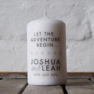 Personalised Wedding Anniversary Candle Gift - dining room