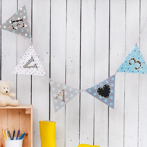 Alphabet Light Up Bunting - children's room