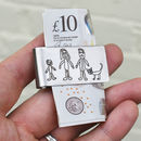 Money Clip Personalised With Childs Drawing Doodle