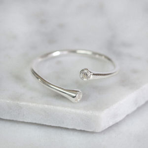 Sterling Silver C.Z Wrap Ring - new in jewellery