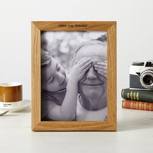 Personalised Oak New Home Photo Frame